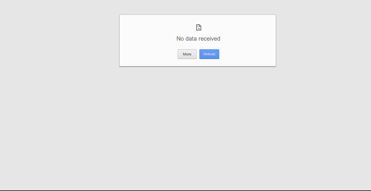 No Data Received Error Chrome